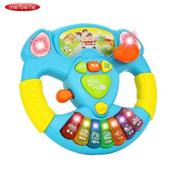 musical instruments for children Canada - Electric Toy Musical Instruments For Kids Baby Steering Wheel Musical Handbell Developing Educational Toys For Children Gift