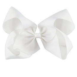 $enCountryForm.capitalKeyWord UK - 10 Inch Large Solid Grosgrain Ribbon Hair Bow For Pretty Girls Children Kids Hairgrips Headwear Handmade Hair Accessories.10PCS