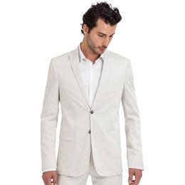 $enCountryForm.capitalKeyWord UK - White Men Suits Jacket Pants Formal Beach Men Suit Set Slim Fit Men Wedding Suit Groom Tuxedos Mens Blazer Party Prom 2 Pieces