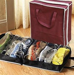 Shoebox DIY Folding Boots Storage Portable Non Woven Toughness Shoe Box  Container Special Tourism Finishing Home Tool CCA10506 60pcs