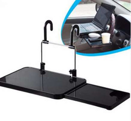 foldable car tray Australia - Car Laptop Holder Back Seat Notebook Stand Car Cup Holder Dining Table Foldable Laptop Stand Food Drink Tray Car Accessories