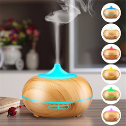 Spa oilS online shopping - New Top quality ml Aroma Essential Oil Diffuser Wood Grain Ultrasonic Cool Mist LED Lights Humidifier for Office Home room Study Yoga Spa