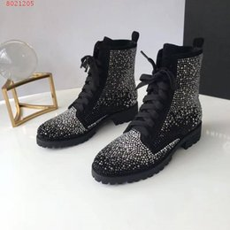 $enCountryForm.capitalKeyWord Canada - Wholesale luxury women boots famous brand casual shoes supplier genuin leather women sneakers high quality studded rhinestone ankle boots