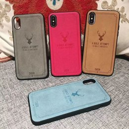 $enCountryForm.capitalKeyWord NZ - Deer Design For iphone 6 7 8 9 X Plus 6.1 6.5 Hot-press 2in1 Leather Back Cover Case Pouch