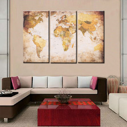 World map canvas oil painting australia new featured world map 4080 cm hd printed decor 3 panel world map canvas painting wall art pictures for hallway living room bedroom home decor gumiabroncs Image collections
