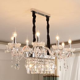 Bedroom Chandeliers Candles Australia - European Luxury Crystal Chandeliers Lighting E14 Candle Lamps 10 Heads for Dining Room Bedroom Living Room Cathedral Wedding