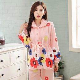$enCountryForm.capitalKeyWord Canada - 3XL 4XL Plus Women Comfortable Warm Flannel Pajama Set Flower Print Pyjama Set Long Sleeve Sleepwear Suit Mother Nightshirt SetsS1017