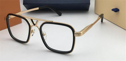 Double top plate online shopping - The latest selling popular fashion designer optical glasses square plate frame top quality HD lens with original box