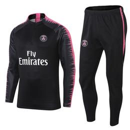 517a5c71f296 New Paris tracksuit 2018-2019 Psg soccer jogging jacket MBAPPE NEYMAR JR  POGBA 17 18 19 Football Training suit