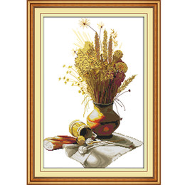 Cross-stitch Latest Collection Of Summer Tea Needlework 11ct 14ct Printed On Canvas Dmc Cross Stitch Fabric Chinese Counted Cross Stitch Pattern Home Decoration Arts,crafts & Sewing