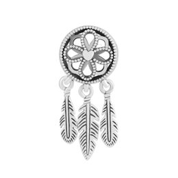 Chinese  Authentic 925 Sterling Silver Bead Openwork Spiritual Dream Catcher Pendant Dangle Charm Fit Pandora Bracelet Bangle DIY Jewelry Accessories manufacturers