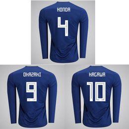 Top Thai 2018 World Cup Japan Long sleeve soccer jersey HONDA football shirt  18 19 OKAZAKI jerseys KAGAWA camisas de futebol ce703161e