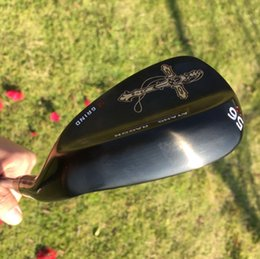 real golf clubs 2019 - 2017 black golf wedges 52 56 60 degree with original S300 steel shaft golf clubs crucifix real forged wedges cheap real