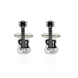 Chinese  Trendy Musical Instrument Shirt Studs Vintage Charm Guitar French T-shirts Cufflinks Men Christmas Gift New Fashion DropShipping manufacturers