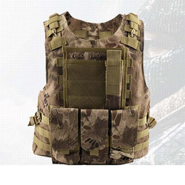 TacTical painTball equipmenT online shopping - Outdoor Breathable Tactical Mesh Vest Multi functional Training Combat Waistcoat CS Paintball Safety Clothing Hunting Equipment A