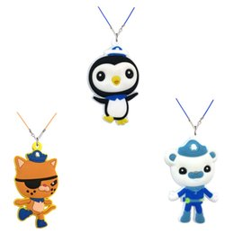 kids cartoon necklaces 2019 - Retail 10+ The Octonauts Poppy High Quality Cartoon Soft PVC Pendant+51cm Necklace Rope Chain Choker Necklace Kids Gift