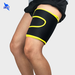 9a28498824 1 Pair Outdoor Sports Leg Sleeve Support Brace Neoprene Adjustable  Basketball Cycling Compression Stretch Thigh Skin Protector
