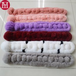 Wholesale Rabbit Fur Scarves NZ - 2018 New Women Real Rex Rabbit Fur Scarf 100% Rex Rabbit Fur Worm And Soft Neckerchief Ring Scarves Wholesale Retail