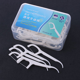 plastic tooth picks Australia - 50pcs pack Interdental Dental Flosser Brush Teeth Stick Plastic Tooth Picks Nylon Wire Toothpicks Dental Floss