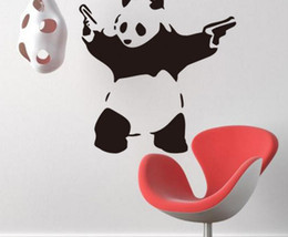 diy balloons 2018 - DIY Wall Sticker balloon girl and Kung Fu Panda PVC Decals wholesale Removable Vinyl Wall Art Stickers for Home car show