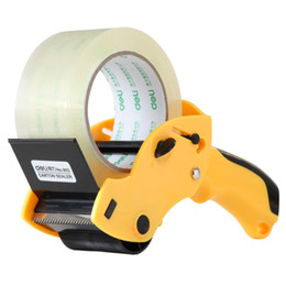 QSHOIC Yellow strength sealing apparatus 60mm tape cutter(not include tape) Hand-held machine packaging tape machine on Sale