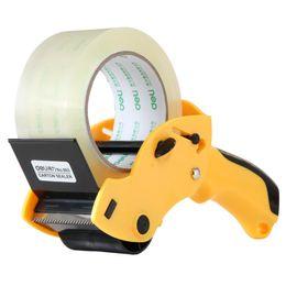 venda por atacado Aparelho de selagem de força amarela QSHOIC Cortador de fita de 60 mm (não inclui fita) Máquina de fita de embalagem de máquina portátil
