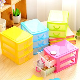 Plastic Cabinet Organizers NZ - Practical Detachable DIY Desktop Storage Box Transparent Plastic Storage Box Jewelry Organizer Holder Cabinets for Small Objects