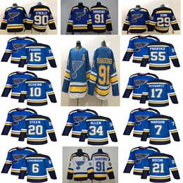 ae7a13d71 2018-2019 St. Louis Blues 91 Tarasenko 90 O'Reilly 7 Maroon 17 Schwartz 10  Schenn 15 Fabbri 6 Edmundson Backes 21 Bozak Hockey jerseys