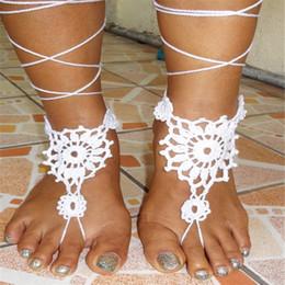 $enCountryForm.capitalKeyWord Australia - Crochet Barefoot Sandal handmade , Nude shoes,Beach pool sandal,Yoga Shoes , Sexy Foot jewelry, Bridal Accessories..