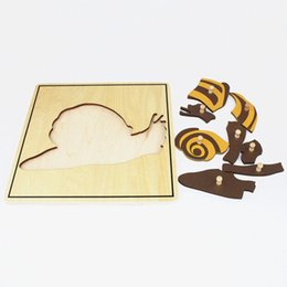 baby snail toys NZ - Baby Toy Kids Snail Puzzle Animal for Children Wood for Early Childhood Education Preschool Training Learning