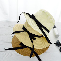 1f1bd7c16b0 Wholesale Sombreros NZ - new fashion beach hats ladies sunhat summer hat  female sombreros Panama straw