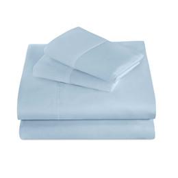 Зимняя шлифовальная хлопчатобумажная смесь 3 шт. Постельные принадлежности Светло-голубой матовый лист для постельного белья Комплект постельного белья Deep Pocket Twin / Twin XL