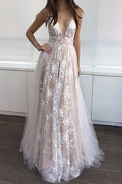 Low Waist Wedding Dresses NZ - Foreverfad 2018 Hot sales summer women's lace low V-neck high waist floral gauze hem stunning wedding dresses evening gown 962