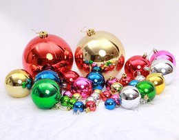 Discount christmas ornament ball - Multicolor Christmas Ball Christmas Tree Ornament ABS Ball Pendant Christmas Decorations With OPP Bag 30LOT CTD3