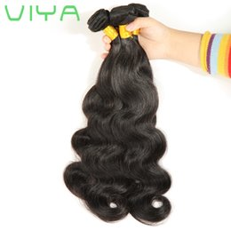 thick virgin remy hair extensions Canada - 7A Unprocessed Human Hair Brazilian Body Wave Sew In Soft and Thick Virgin Hair Extensions 100g VIYA Remy Human Hair Weave Bundles