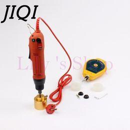 Ingrosso JIQI tappatrice bottiglie automatiche tappatore automatico tappatura tappi Cappucci avvitamento coperchio tightener 110 V 220 V 1-30 MM