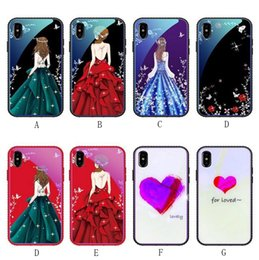 China Beauty Phone Case Bling Diamond Edge Shockproof Cases for IPhone X 8 7 6 6s Plus Glass TPU Shell Protective Back Painting Cover suppliers