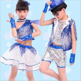 $enCountryForm.capitalKeyWord NZ - Bazzery Children Jazz Dance Clothes with Wristbands Modern Dance Ballroom Costume Jazz Suit for Primary School kindergarten Kids