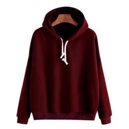 88785a1be923 Women Teenager Plain Pullover Hoodies Hooded Hip-hop Jumper Sweatshirt  Solid Autumn Warm