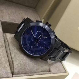 Ion bracelet watch online shopping - Men s Swiss Chronograph Gray Ion Plated Stainless Steel Bracelet Watch With box