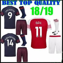 627bac87016 2018 2019 new Gunners armory OZIL soccer jersey+socks 18 19 ALEXIS WILSHERE  GIROUD CHAMBERS XHAKA home football shirt kits