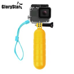 xiaomi yi accessories waterproof 2019 - GP-60 Waterproof Bobber Floating Non-slip Hand Bar Selfie Grip for Gopro 5 6 4 3 3+ Session Xiaomi Yi 4K SJCAM SJ4000 Ac