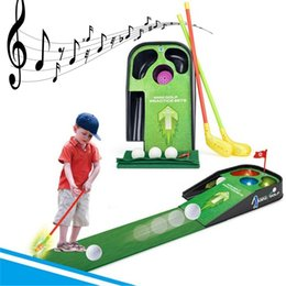 Mini Golf Games Australia - Mini Golf Club Set Golf Ball Sport ABS Club for Children Table With Flag Kids Sport Game Toy Gift children Drop Ship