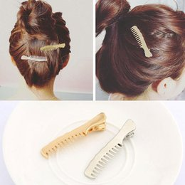 Discount small metal plates - Non-slip metal comb hair clip side clip small clip wholesale free shipping