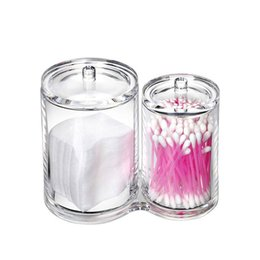 cotton q tips NZ - Clear Acrylic Cotton Swab Box Q-tip Holder Cotton Swabs Stick Storage Box Cosmetic Makeup Tools Organizer Women Powder Case