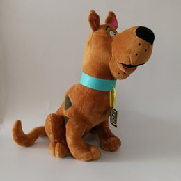Discount scooby toy High Quality 100% Cotton 13.5 inch 35cm Scooby Doo Plush Toy Animals Dog For Child Holiday Gifts