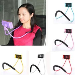 Tablet Lazy Stents Australia - Universal Lazy Bracket Flexible Hang Neck Phone Holders Neck Hanging Tablet Stand selfie Stents Holder For iPhone x 8 plus Samsung s8 ipad