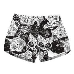 73fb27af20 Ladies Swim Shorts UK - Women Short Beach Shorts Cats 3D Full Print Girl  Casual Swimming
