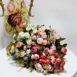 ImItatIon camellIa flowers online shopping - Aritificial Silk flower bouquets home decorative heads Camellia artificial flower High imitation little wedding flowers