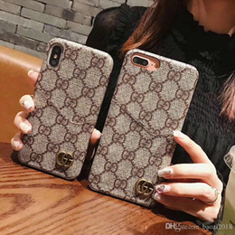 Wholesale For iphone XS MAX case Classic Printed Black brown plaid phone case cover for iphone plus plus S plus X XR Card slot